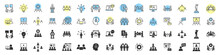 Business Training And Workshop Excellent Icons Collection In Two Different Styles