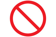 Stop Icon. Forbidden Sign. Restriction Symbol. Red Stop Icon. Transparent Warn