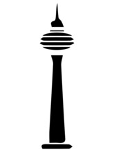 Black Sketch Of Space Needle Tower
