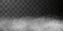 White Smoke Puff Isolated On Transparent Black Background. PNG. Steam Explosion Special Effect. Effective Texture Of Steam, Fog, Smoke Png. Vector Illustration