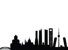 City Skyline In Black Tower