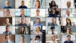 canvas print picture - Professional Group Headshot Video Conference