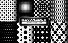 Black And White Polkadot Seamless Pattern Collection.