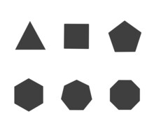 Simple Polygon Shape Collection Vector,