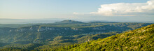 Panorama Landscape, Southern France, Provencal Landscape, Country, Aix, Aix En Provence, Aix-en-provence, Background, Beautiful, Cezanne, Clouds, Colorful, Countryside, Europe, European, Forest, Franc