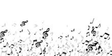 Music Notes Cartoon Vector Background. Symphony