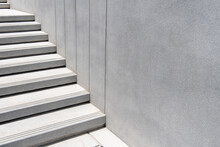 Outdoor Step With White Terrazo Stone Material.