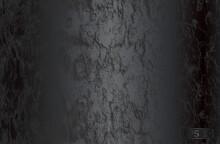 Luxury Black Metal Gradient Background With Distressed Wooden Bark Texture.