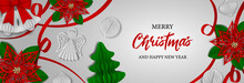 Christmas Banner With Paper Decorations