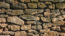 Mortarless Wall Of Natural Stone