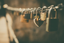 Many Padlocks On A Chain