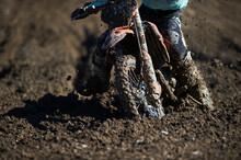 Motocross Stuck In The Mud