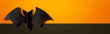 Halloween Paper Bat - Overhead View Flat Lay