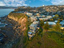 Aerial Photo Of House On Cliff Edge Terrigal New South Wales Australia