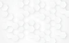 Hexagon Concept Design Abstract Technology Background Vector EPS, Abstract White Hexagon Concept Background, Soft White Background.