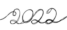 Pen Drawing 2022 Calligraphy . Vector Illustration