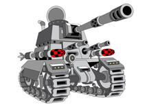 Vector Image Of Military Equipment And Military Elements  .