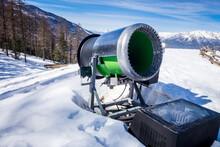 Snow Gun In A Ski Resort