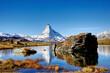 canvas print picture - Herbst in Zermatt mit Blick aufs Matterhorn