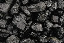 Coal Background, Black Stone, Close-up