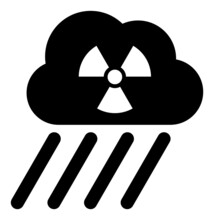 Radioactive Rain Vector Icon. A Flat Illustration Design Used For Radioactive Rain Icon, On A White Background.