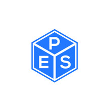PES Letter Logo Design On White Background. PES Creative Initials Letter Logo Concept. PES Letter Design.