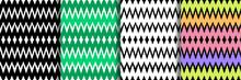 Ethnic Striped Zig Zag Seamless Patterns Set