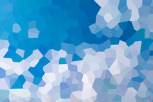 Mixed Chaotic Blue And White Mosaic Texture