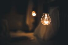 Vitange Retro Light In Dark Blur Bed Room.