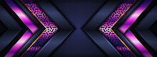 Modern Navy And Purple Pattern Lines With Overlap Layer Textured Background Design.