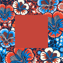 Vintage Floral Frame Vector Illustration With Batik Pattern, Remixed From Public Domain Artworks
