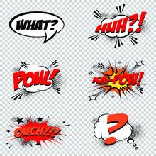 Set Of Comic Speech Bubbles. Modern Logo