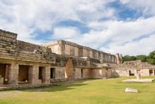Quadrangle Palace At Uxmal, Mexico