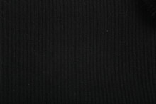 Black Texture Wool Close-up, Woven Cloth, Knitted Fabric
