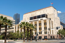 Los Angeles, California - United States - July 7th 2021 - Opened In 1935 The Old Los Angeles Times Building Was Headquarters To The LA Times Until 2018.