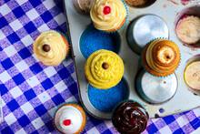 Mesa De Cupcakes Visto De Cima