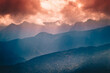Sundown in Polish mountains