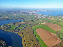 Aerial View Of The River Dart And Torbay , Devon