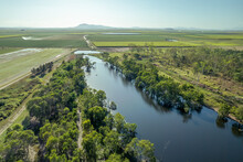 Aerial Landscape Of Wildlife Reserve Lagoon