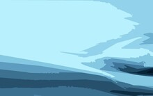 Abstract Image With Shades Of Blue. Simplified Minimalism In Contemporary Art.