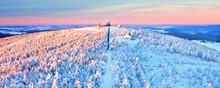 Fichtelberg Gipfel Im Winter