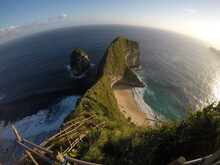 Natural Bamboo Staircase Beach Paradise Bali Indonesia View Paradise Descent To Desert Beach Unspoiled Preserved Exotic Travel