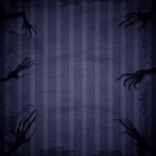 Blue Grunge Wallpaper Background With Creepy Hands