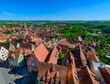 canvas print picture - Medieval City of Rothenburg ob der Tauber, View from the Rathaus Turm, Germany