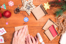 Step 7. Step By Step Photo Instruction. DIY Concept. How To Make An Advent Calendar. Merry Christmas. Creative Ideas For Children. Crafts For Children.