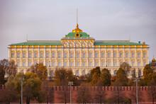 The Grand Kremlin Palace In Autumn