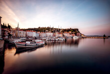 Small Harbour In The Old Town Of Piran, Slovenia
