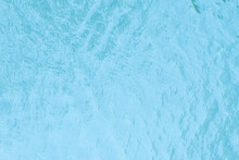 Blue Water Surface For Background. Small Waves On The Water
