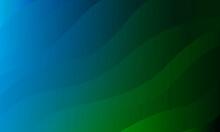 曲線とグラデーションで作った優雅な背景素材、青、グリーン