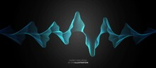 Abstract Neon Wave Design. The Texture Of Luminous, Flowing Lines. Poster For Music, Party, Technology, Modern, Artificial Intelligence, Social Networks. Vector Illustration